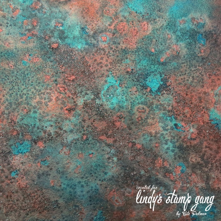 Faux Patina created with Lindy's Starbursts