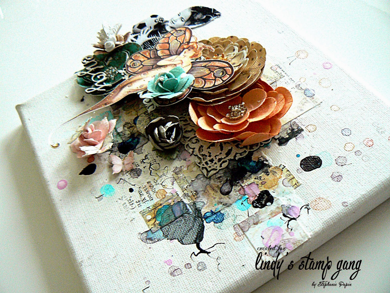 3d mixed media canvas tutorial by stephanie papin lindys gang baditri Image collections