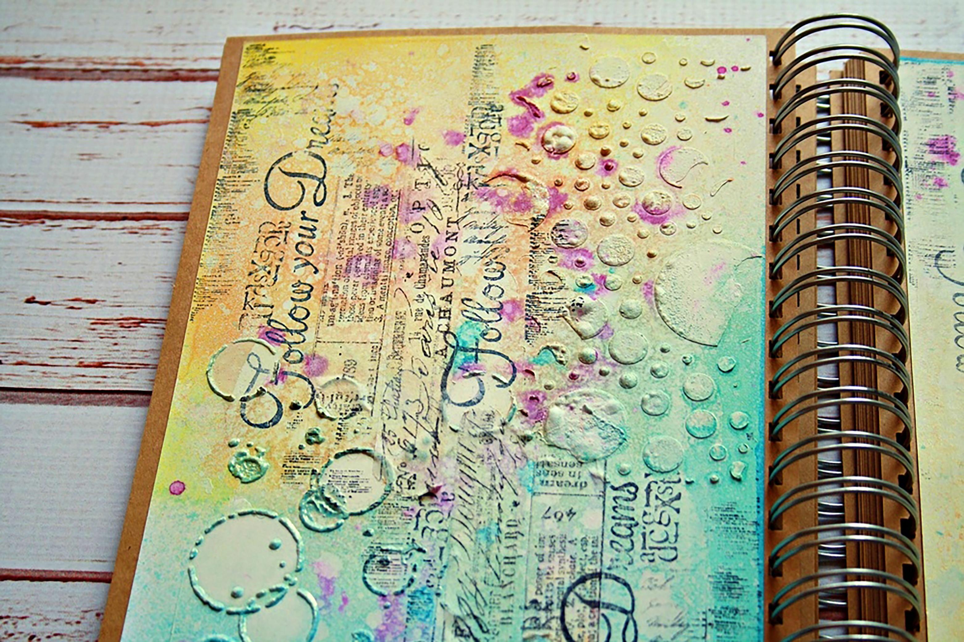 Art Journal Calendar Tutorial : Art journal video tutorial lindy s gang