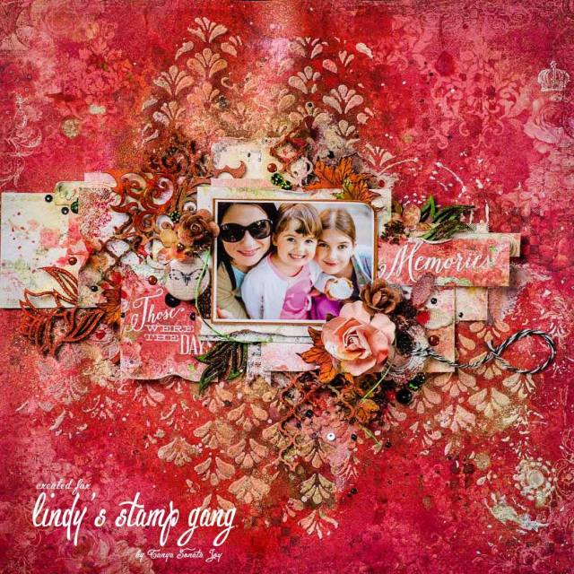 tanya scrapbook layout nov color challenge