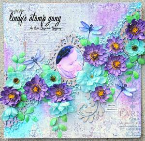 scrapbook page color challenge may 2016