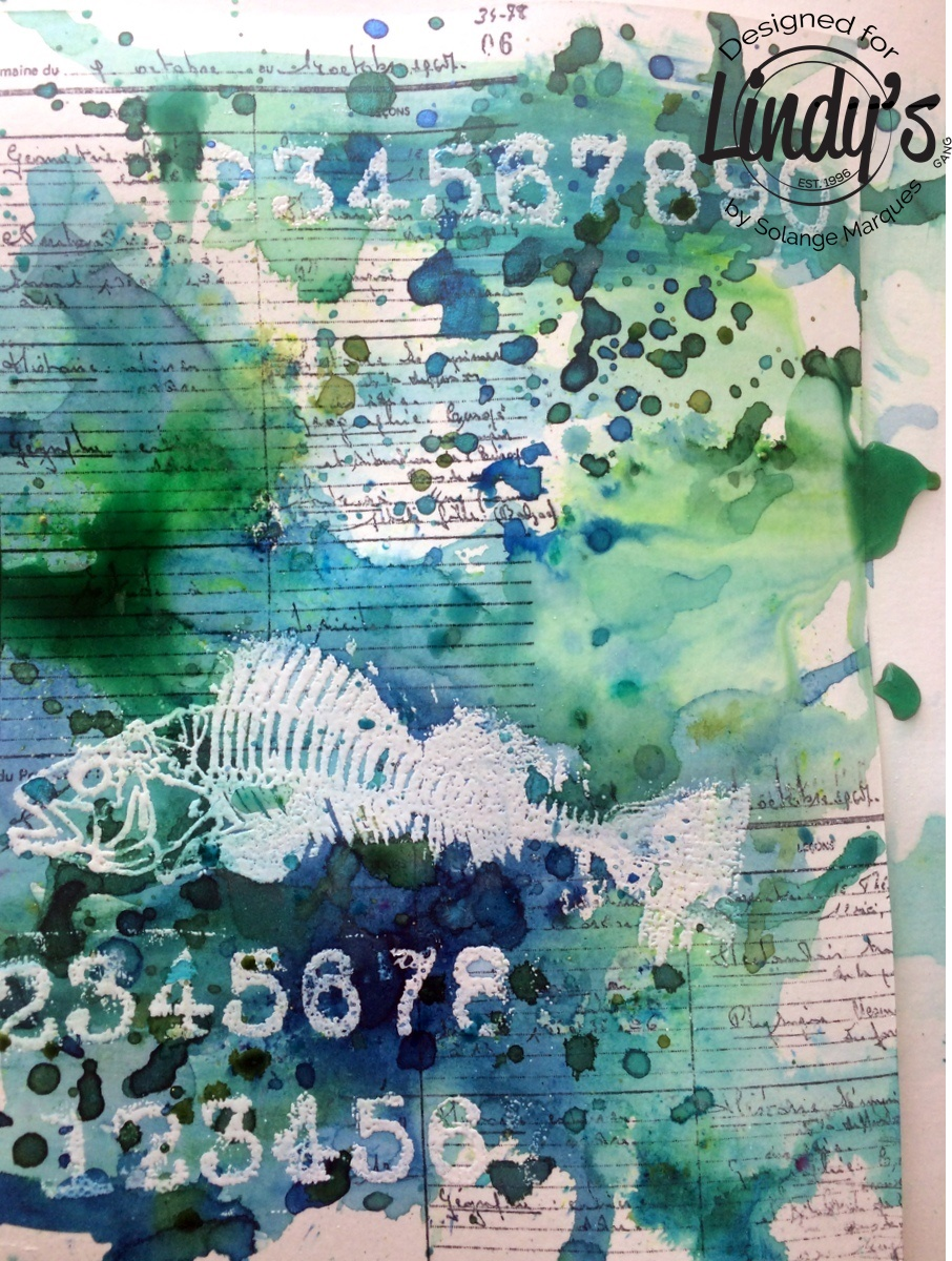 Art Journal Page by Solange Marques with Lindy's Stamp Gang products-01