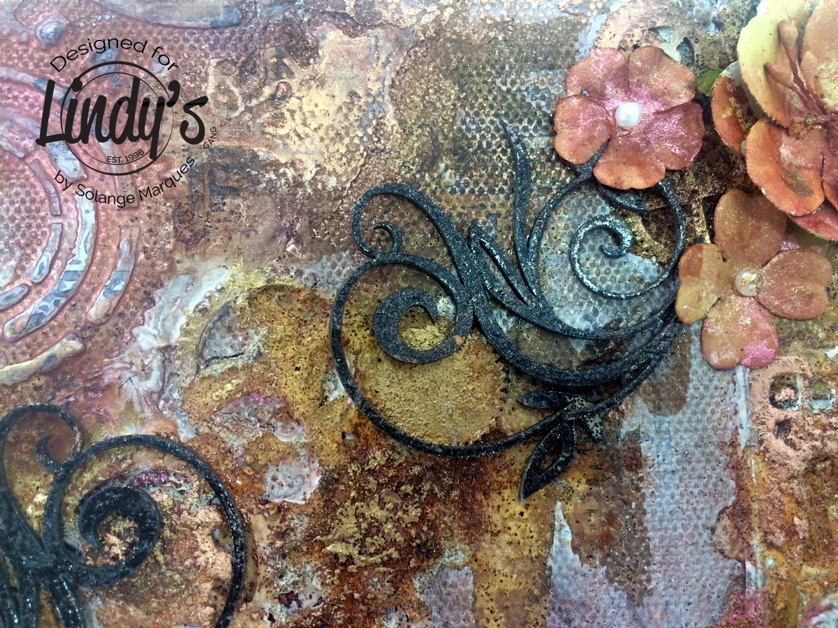 Rust album by Solange Marques with Lindy's Stamp Gang products-06