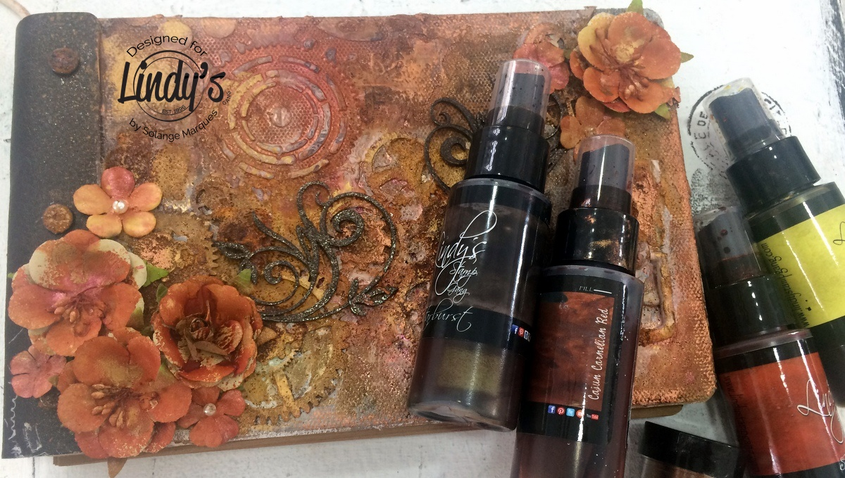 Rust album by Solange Marques with Lindy's Stamp Gang products-08