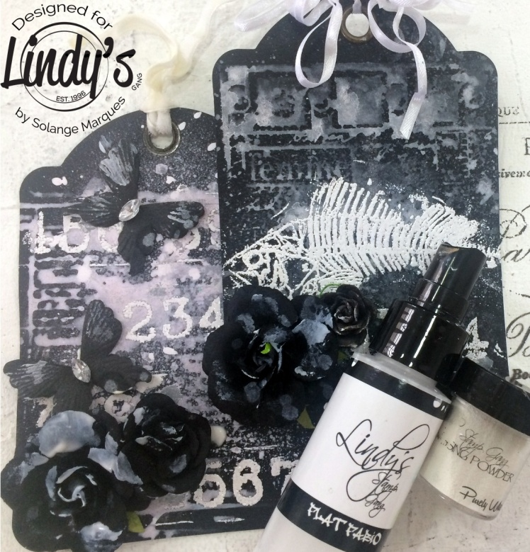 stamping with sprays